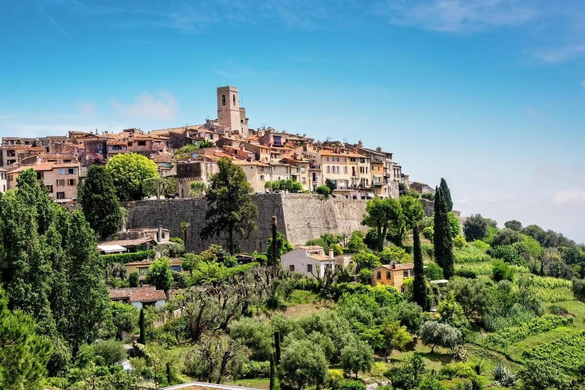 Panoramic view of Saint Paul de Vence, France