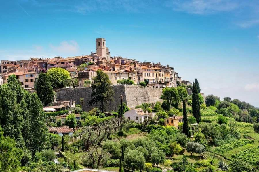 Panoramic view of Saint Paul de Vence, France