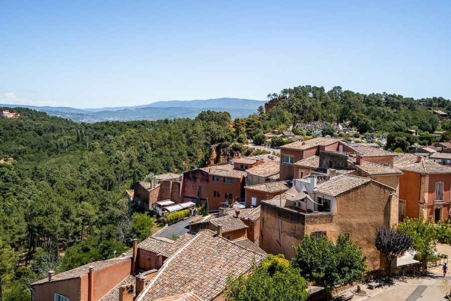 Panoramic view from Roussillon, Provence