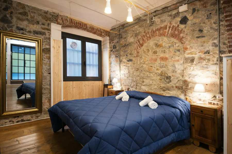 Unique Exposed Brick Apartment in La Spezia