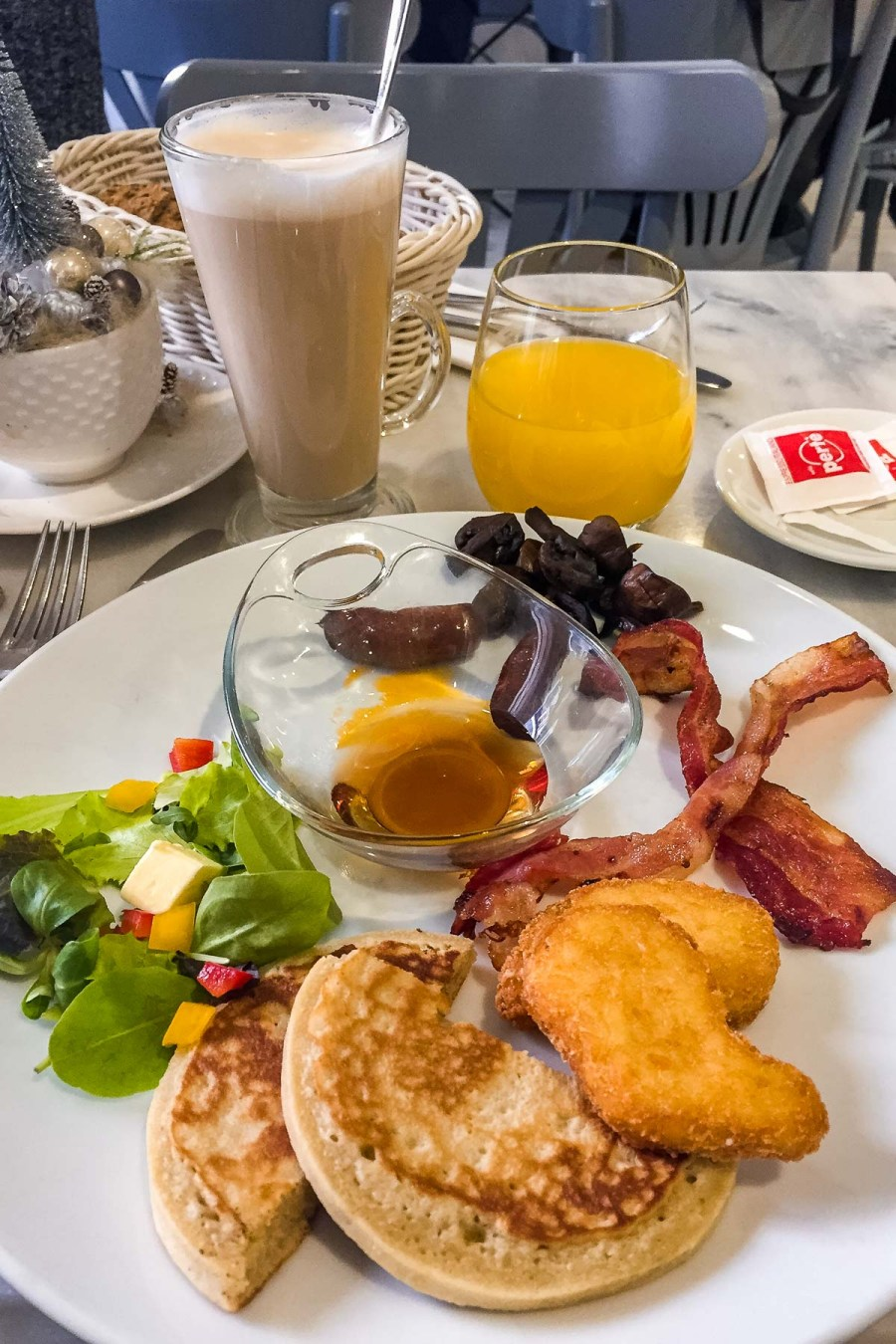 Salty breakfast at Á La Maison Grand Budapest
