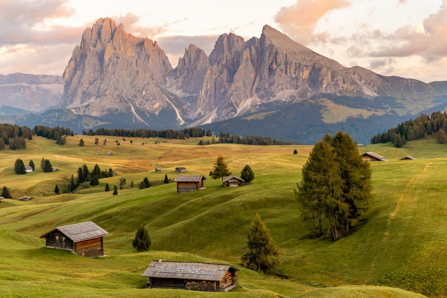 You can't miss the picturesque Alpe di Siusi on your Dolomites road trip