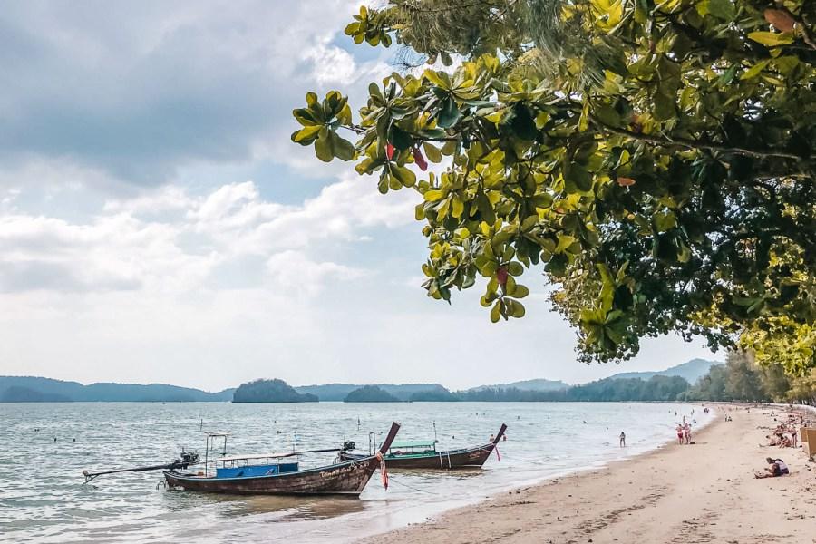 Boats on the water at Ao Nang, Thailand