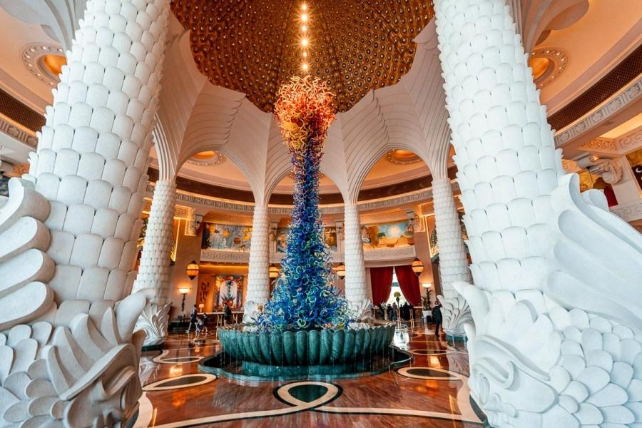 Lobby in the Atlantis, the Palm in Dubai