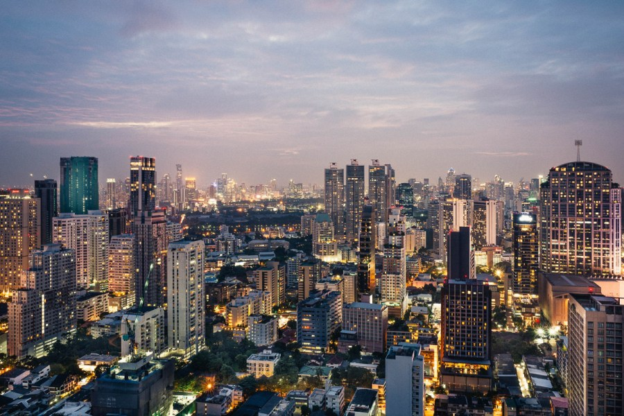 View from Octave Rooftop Bar in Bangkok
