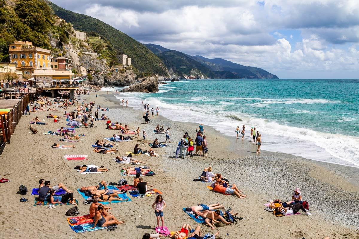 Beach in Monterosso al Mare, Cinque Terre, Italy