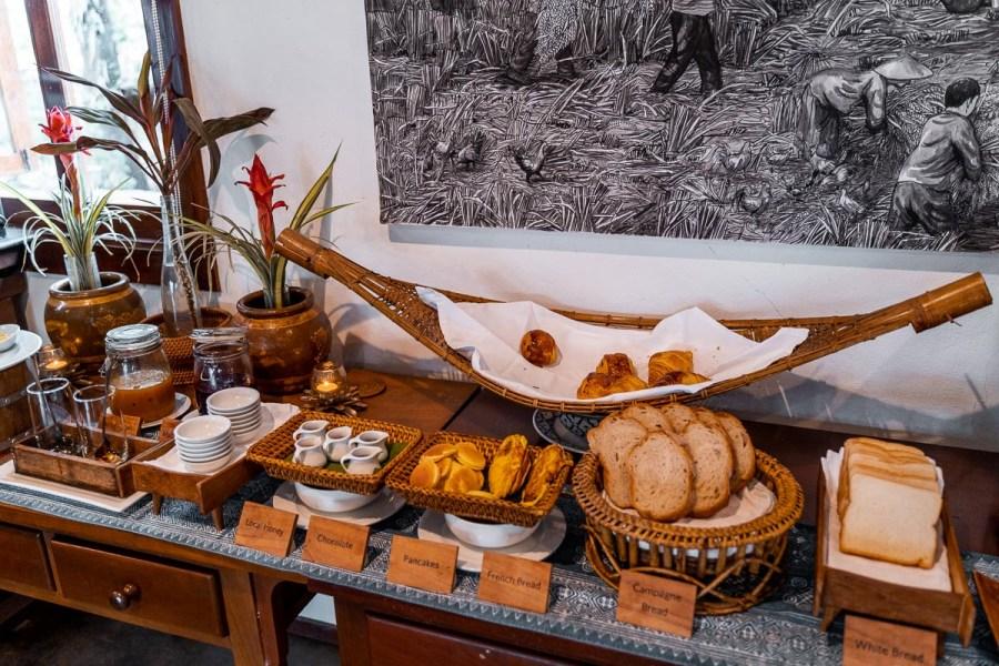Breakfast at the Riverside Boutique Resort Vang Vieng