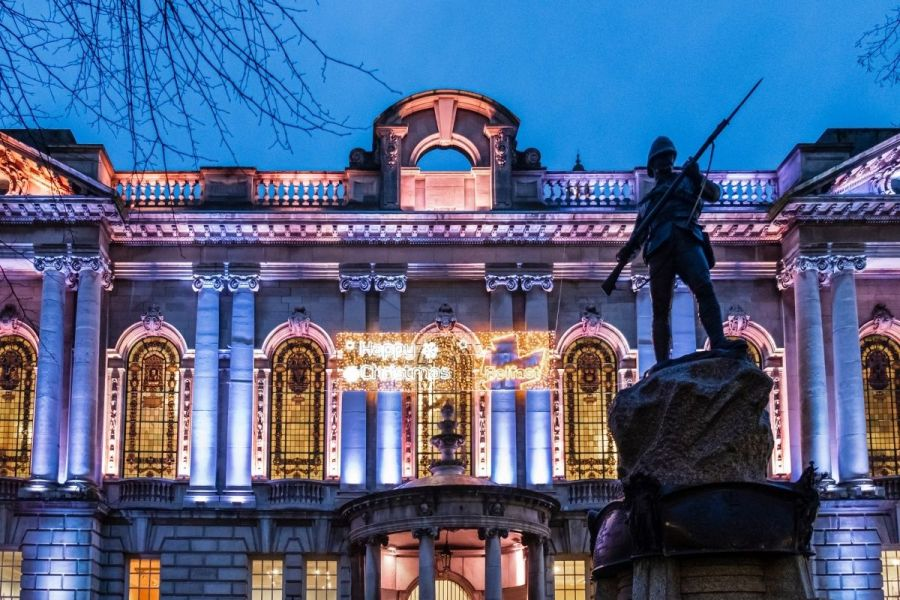 Christmas lights in Belfast, Northern Ireland