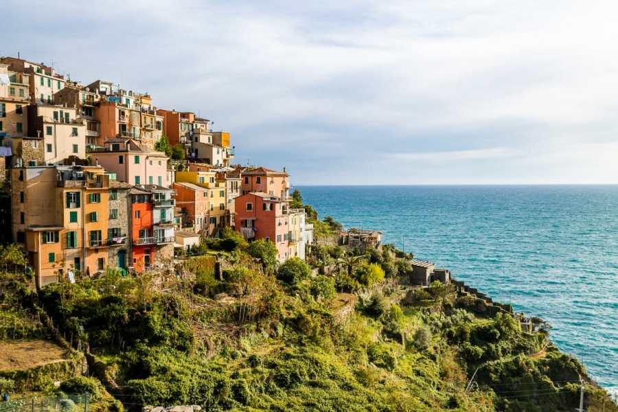 Colorful houses in Corniglia, Cinque Terre, Italy