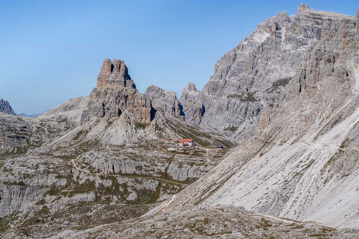 Dreizinnenhütte on the Tre Cime di Lavaredo hike