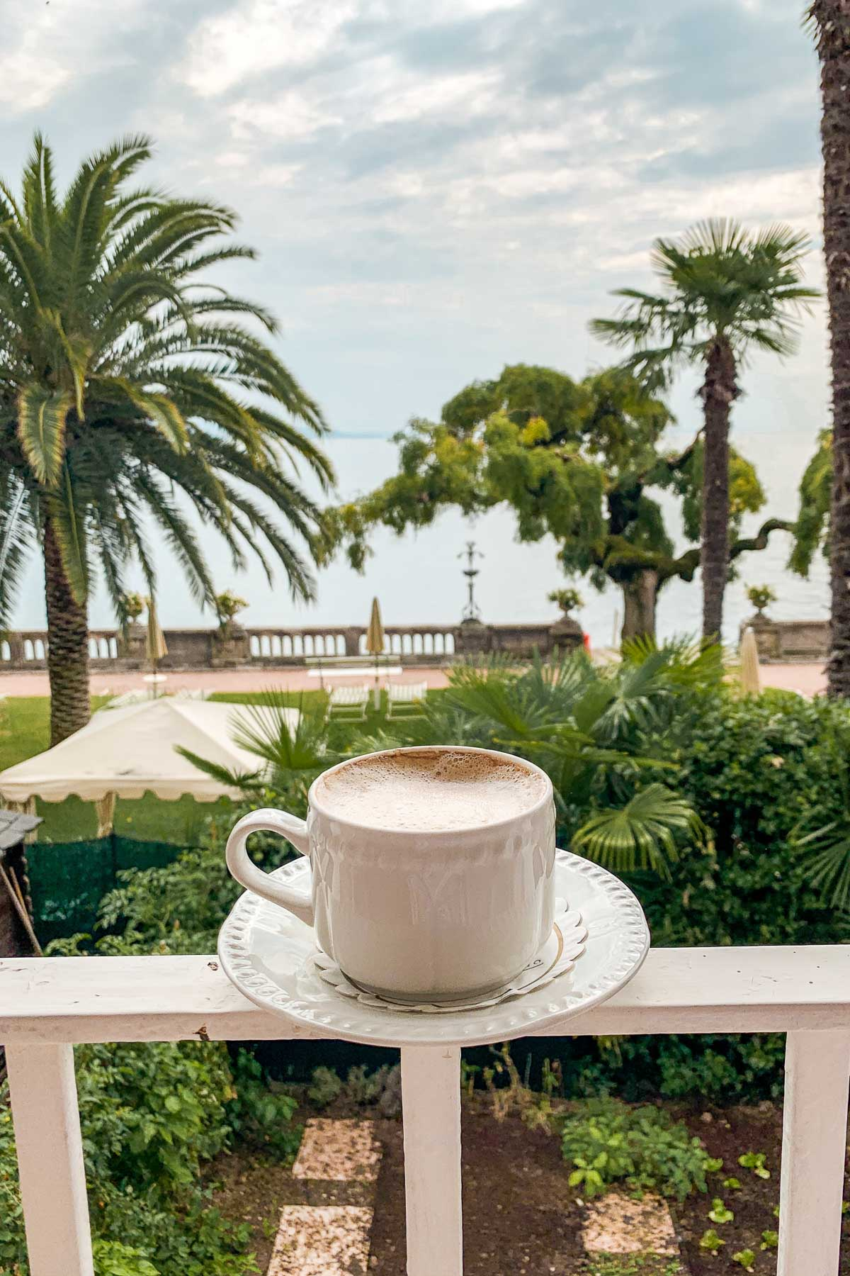 Coffee with a view at Grand Hotel Fasano