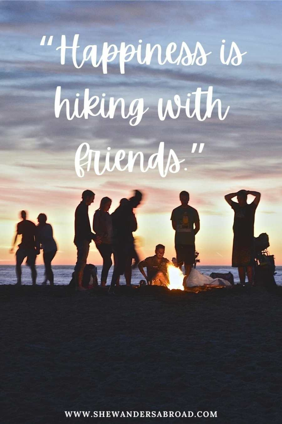 Hiking with friends captions