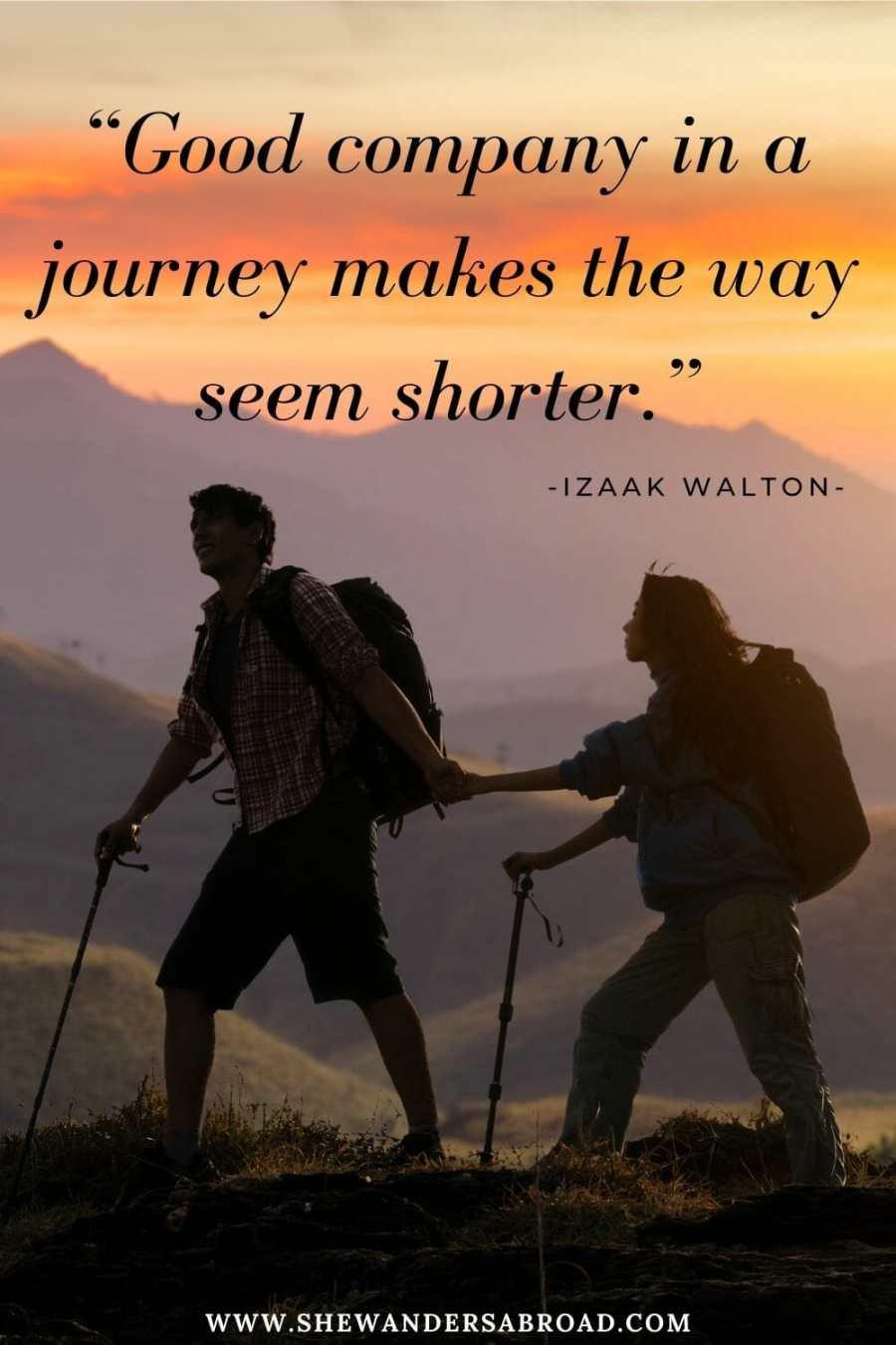 Romantic hiking love quotes