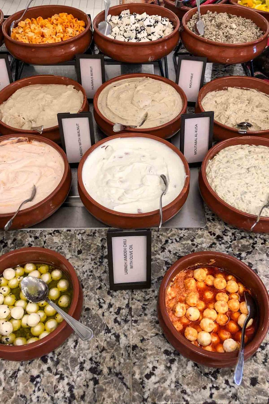 Breakfast spread at the Hilton Dead Sea Resort & Spa