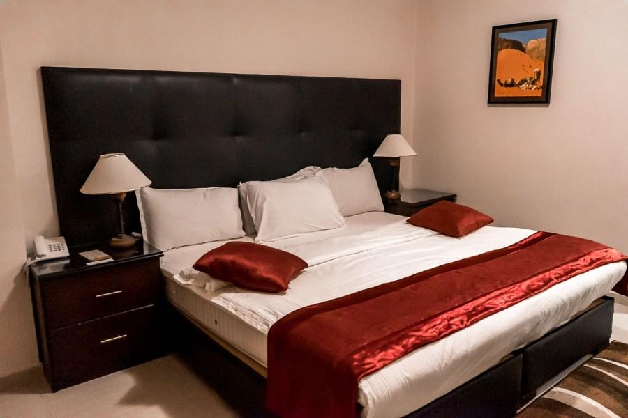 Bedroom at the La Maison Hotel in Petra, Jordan