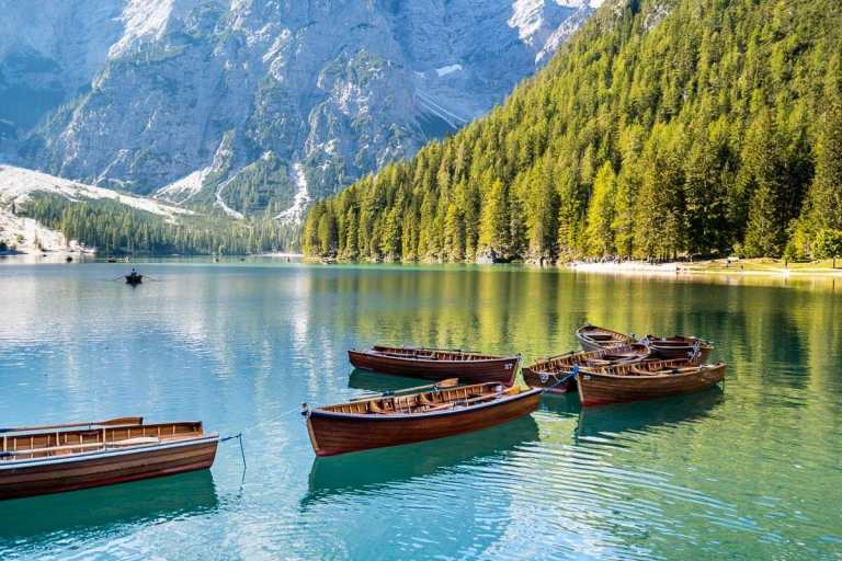 Lago di Braies, one of the most beautiful lakes in the Dolomites