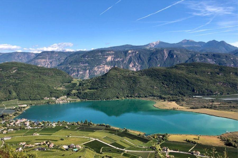 Panoramic view of Lago di Caldaro