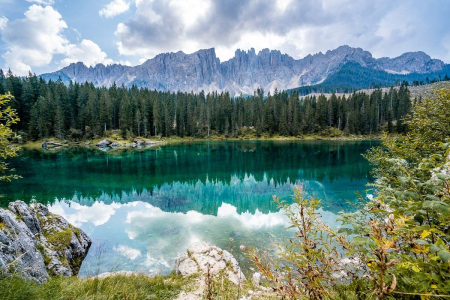 Lago di Carezza is a must stop on every Dolomites road trip