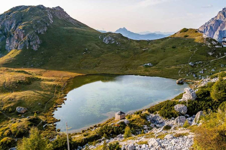 Lago di Valparola in the Dolomites