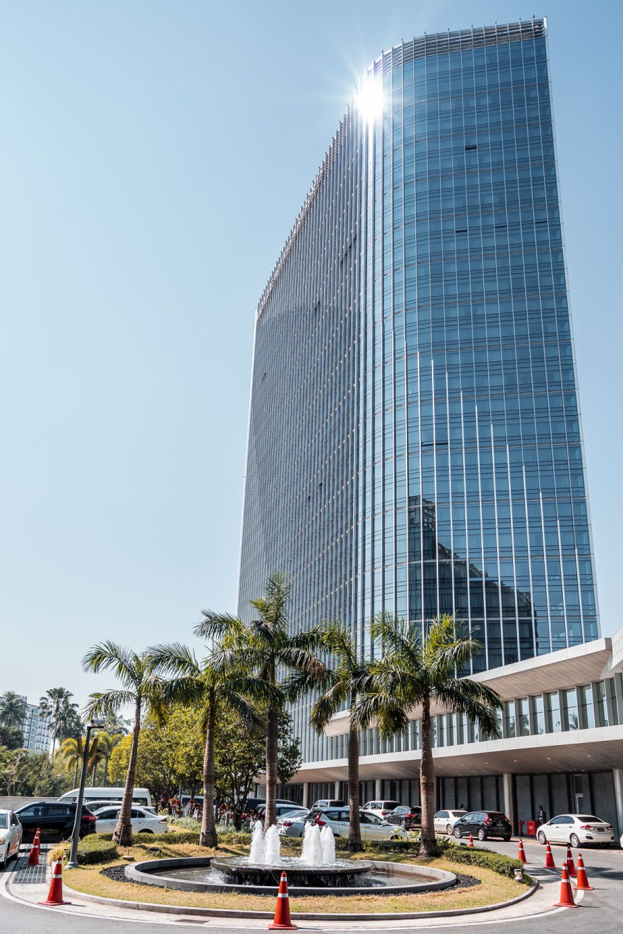 The beautiful building of Lotte Hotel Yangon