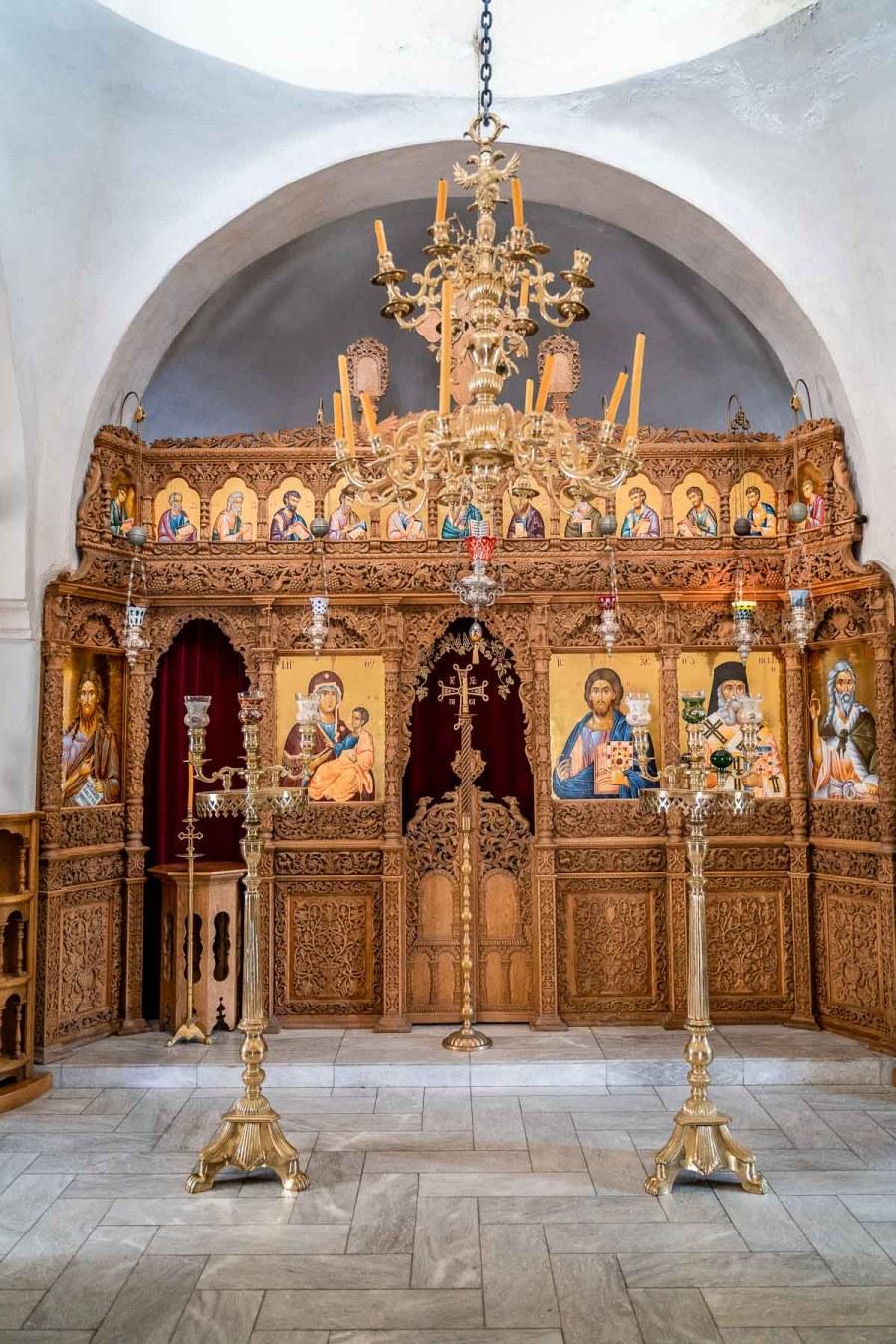 Monastery of Profitis Ilias in Santorini, Greece