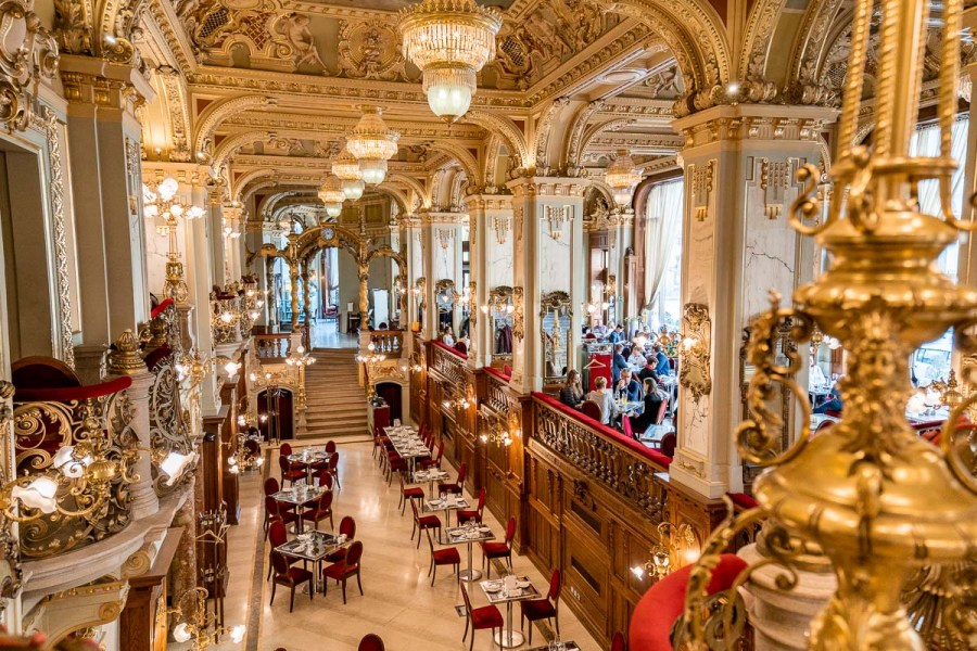 Beautiful interior at New York Cafe Budapest