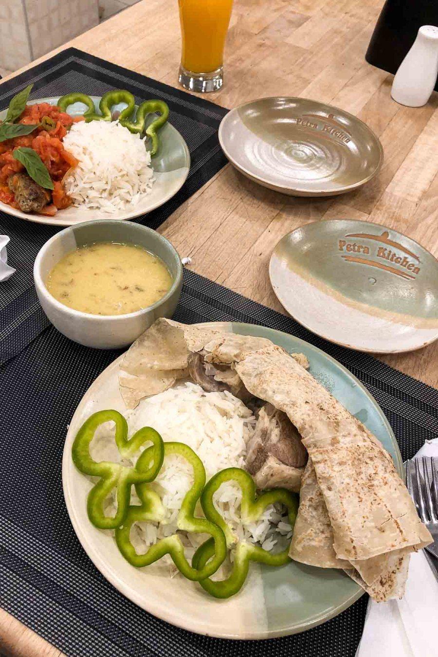 Dinner at the Petra Kitchen in Petra, Jordan