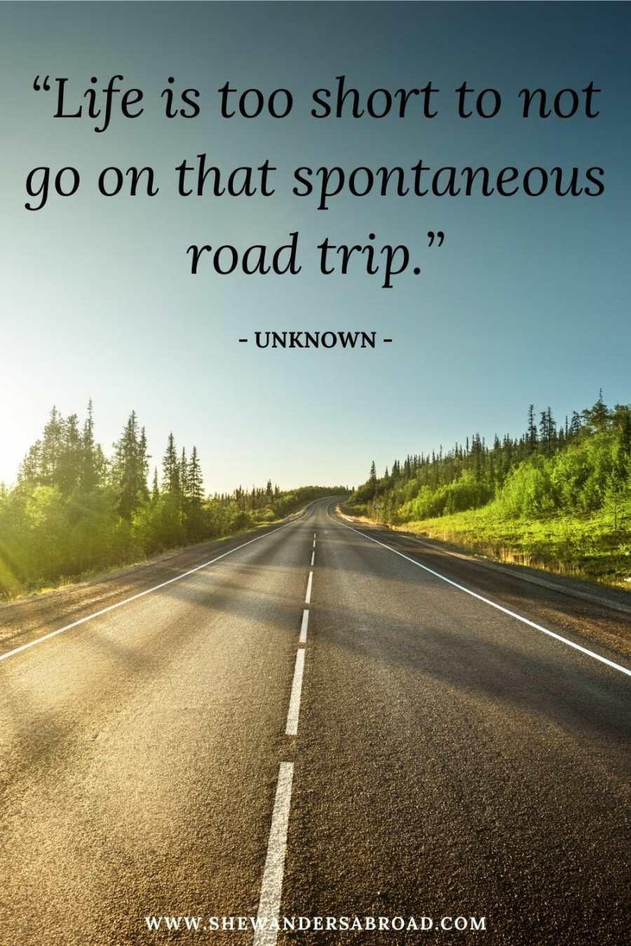 Short road trip captions for Instagram