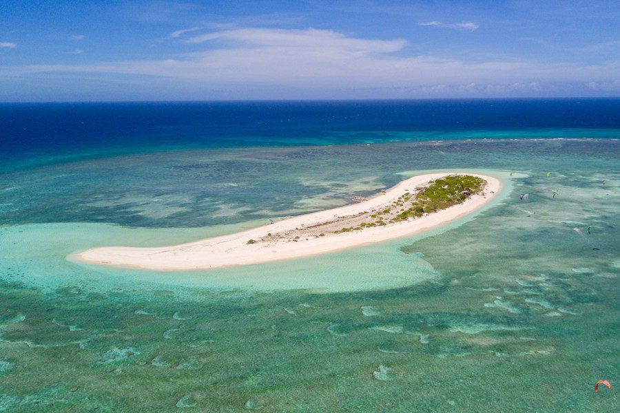 The beautiful elbow shaped Seco Island in the Philippines
