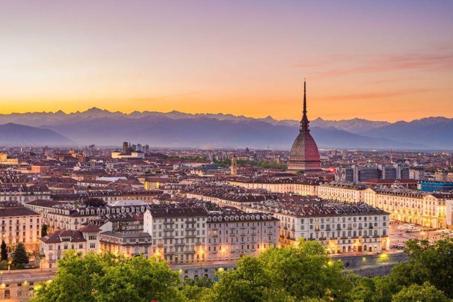 Sunset in Turin, Italy