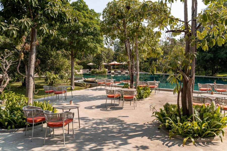 Garden and pool at the Templation Siem Reap