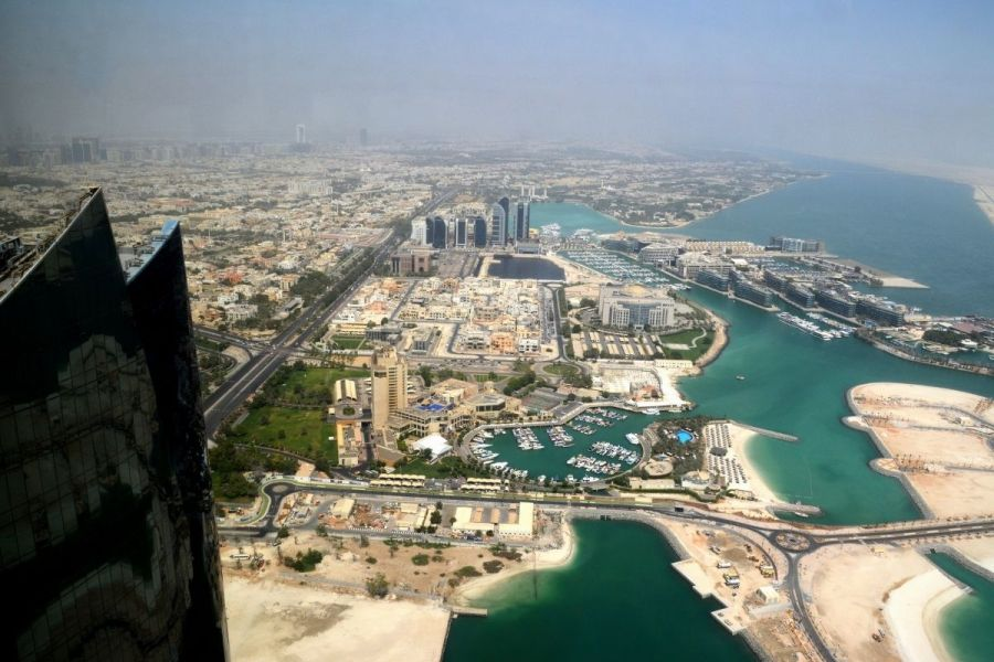 View from the Etihad Towers in Abu Dhabi