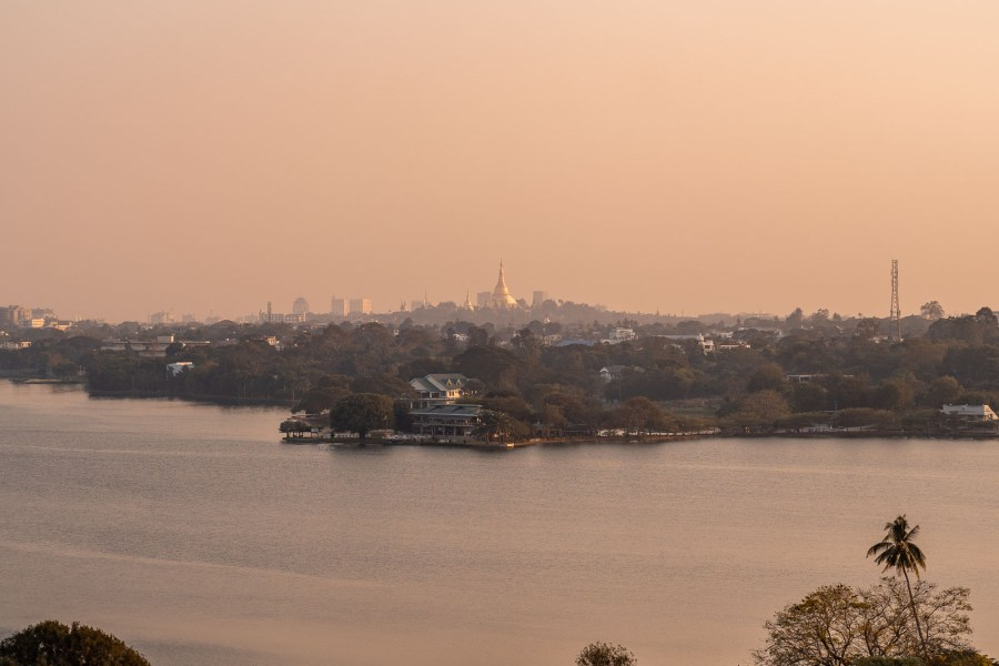 View of the Shwedagon Pagoda from Lotte Hotel Yangon