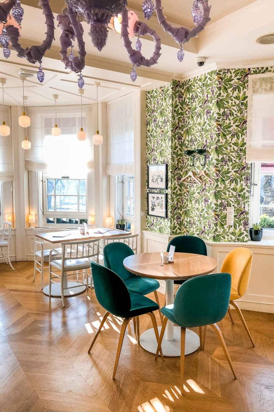 Beautiful interior at Villa Bagatella in Budapest, Hungary