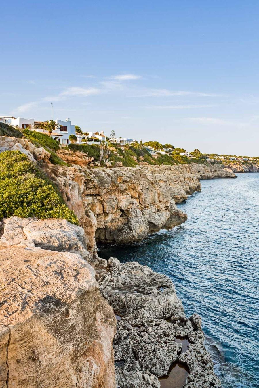 The coastline at Cala Pi in Mallorca