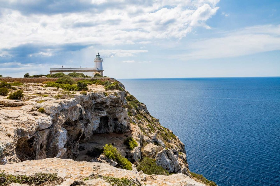 Far de Cap Blanc lighthouse is a must stop on every Mallorca road trip itinerary