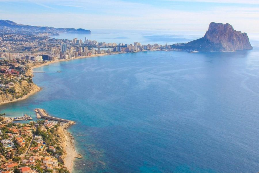 Panoramic view of Calpe, Spain
