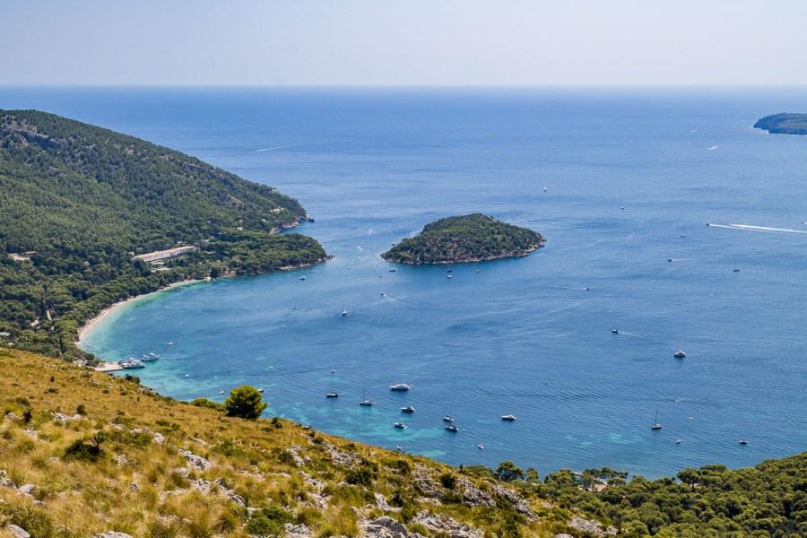 Platja de Formentor from above