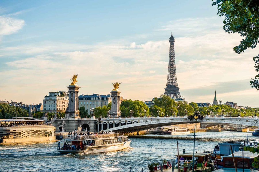 Pont Alexandre III with Eiffel Tower in the background