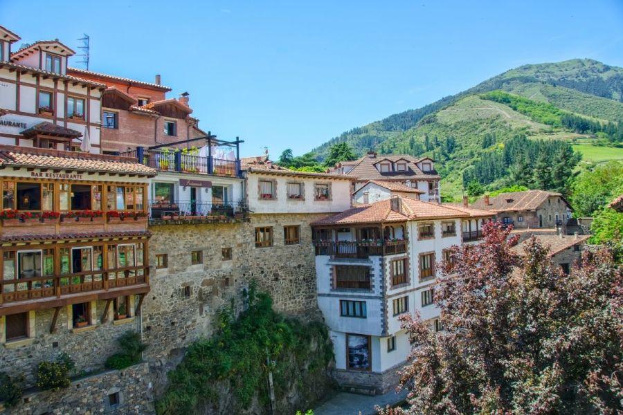 Medieval houses in Potes, Spain