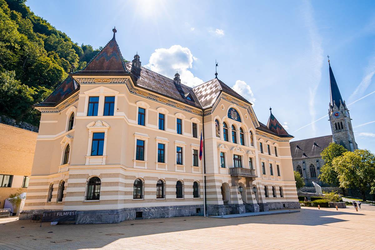 Government building in Vaduz, Liechtenstein