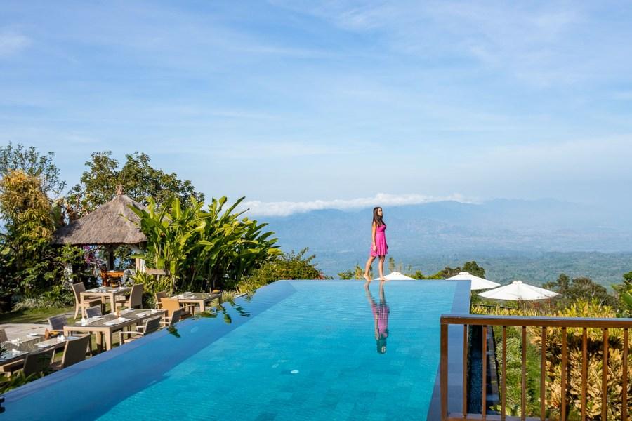 Infinity pool at Munduk Moding Plantation in Bali