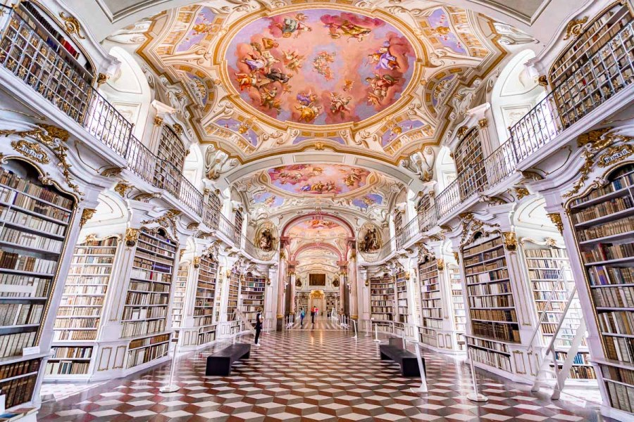 The breathtaking Admont Abbey Library, a must stop on every Austria road trip itinerary