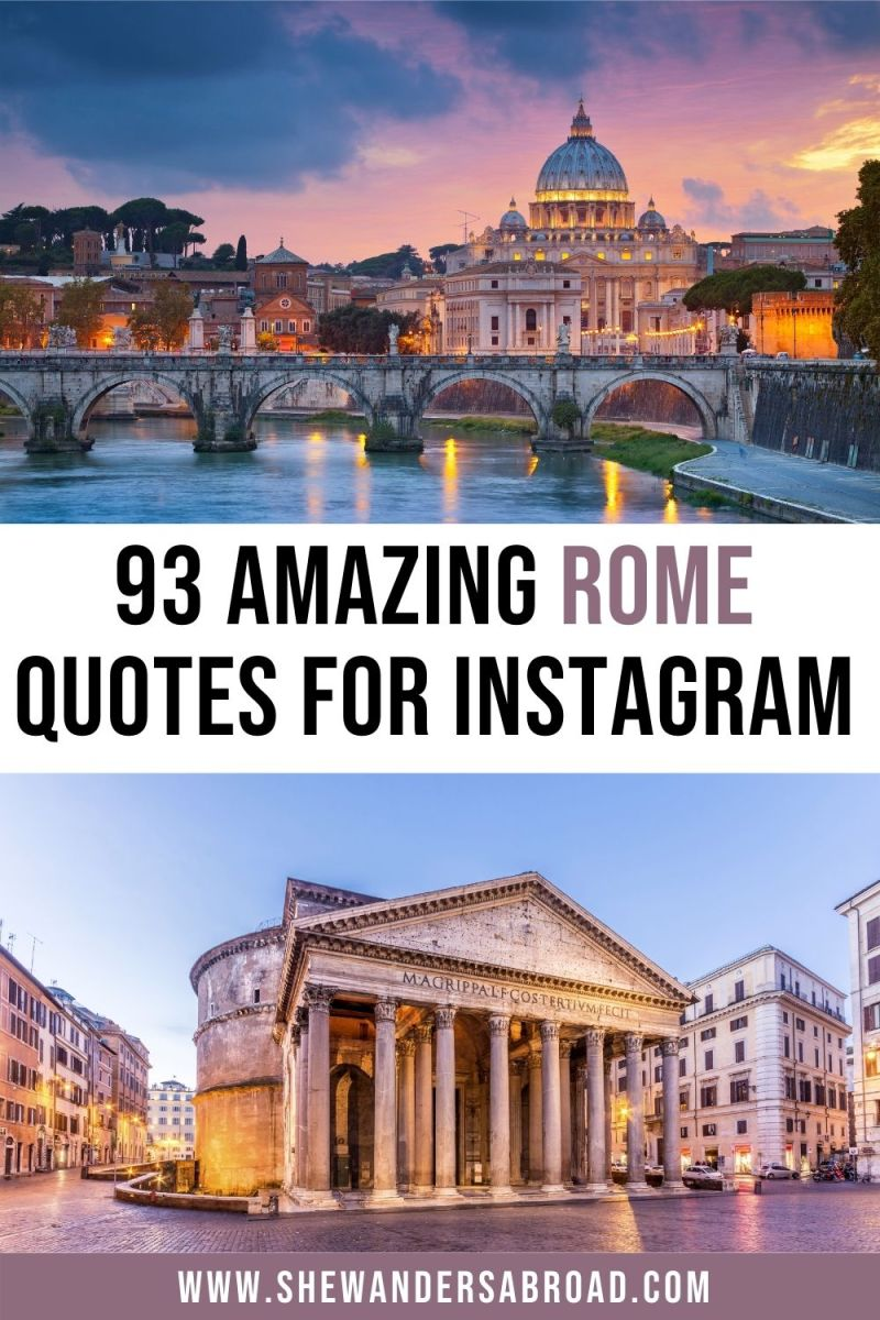 93 Rome Quotes for Instagram