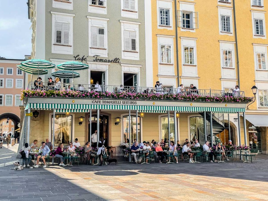 The famous Cafe Tomaselli in Salzburg
