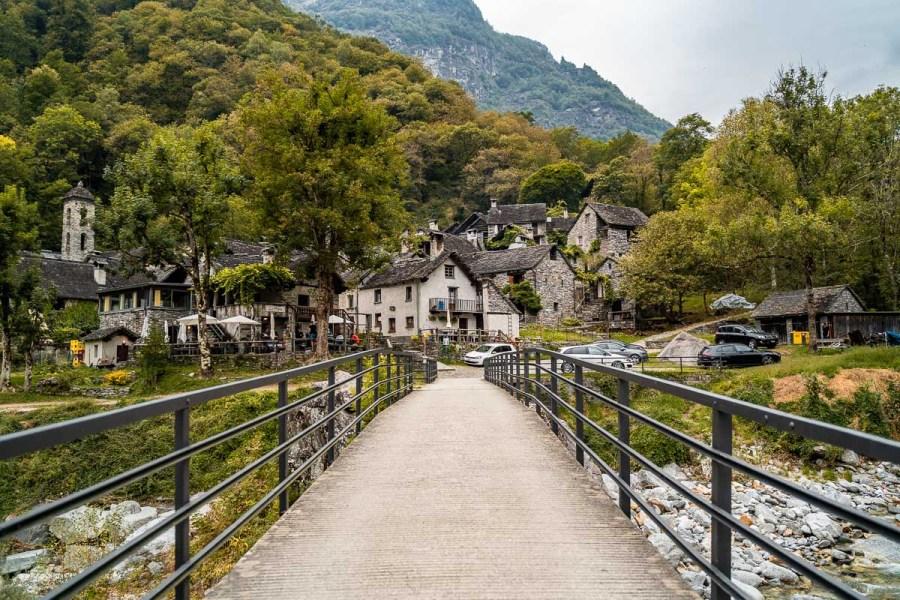 Fairytale town of Foroglio, Switzerland