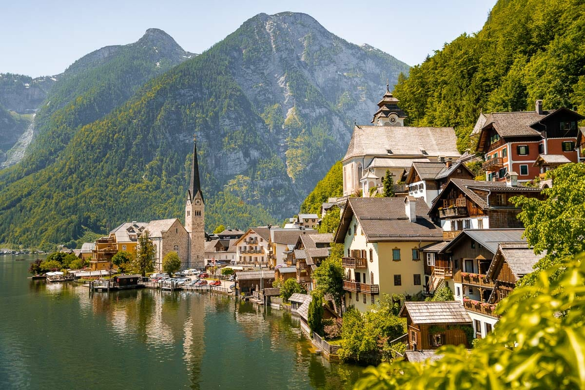 Panoramic view of Hallstatt from the Classic Postcard Viewpoint, a must visit place on every Hallstatt itinerary