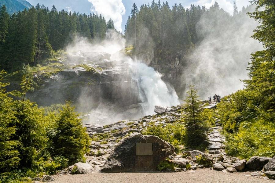 Lower viewpoint at Krimml Waterfalls, Austria