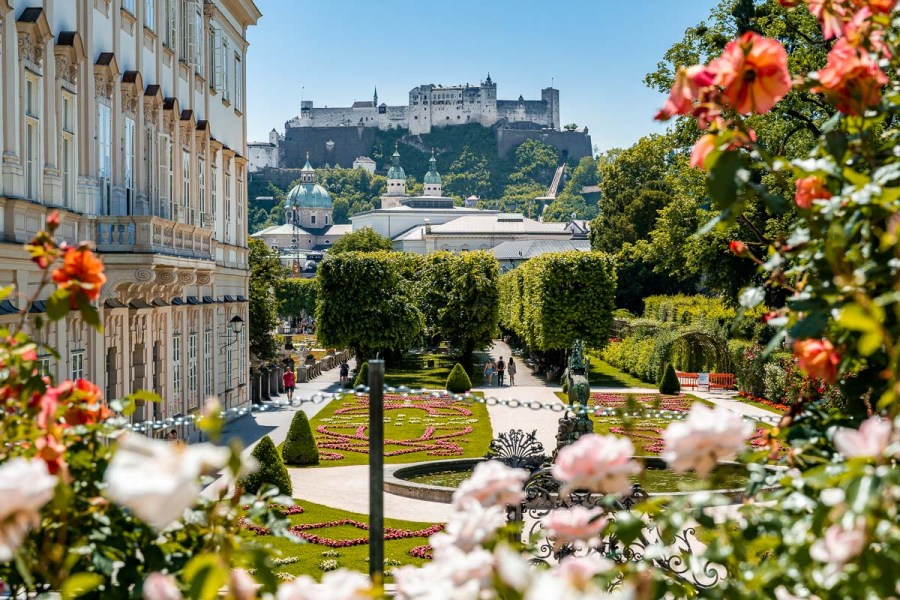 The beautiful Mirabell Gardens that you have to visit even if you have only one day in Salzburg