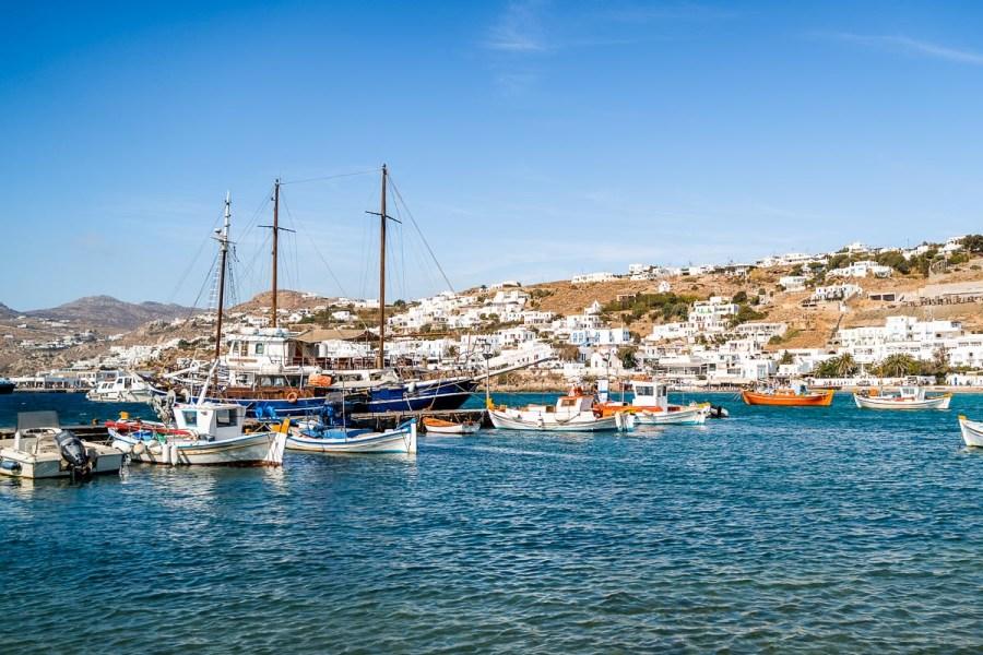 Old Port in Mykonos